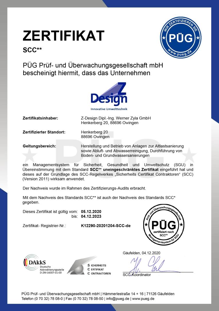 SSC Zertifikat